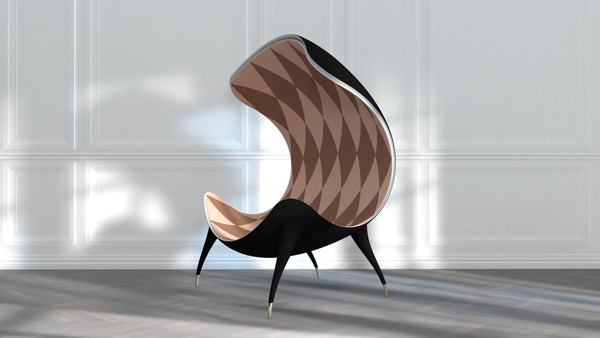 北欧轻奢风创意休闲椅