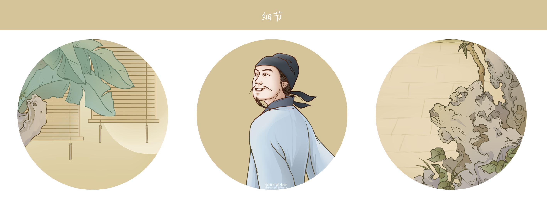 【伊利金典牛奶】国风仿工笔商业插画