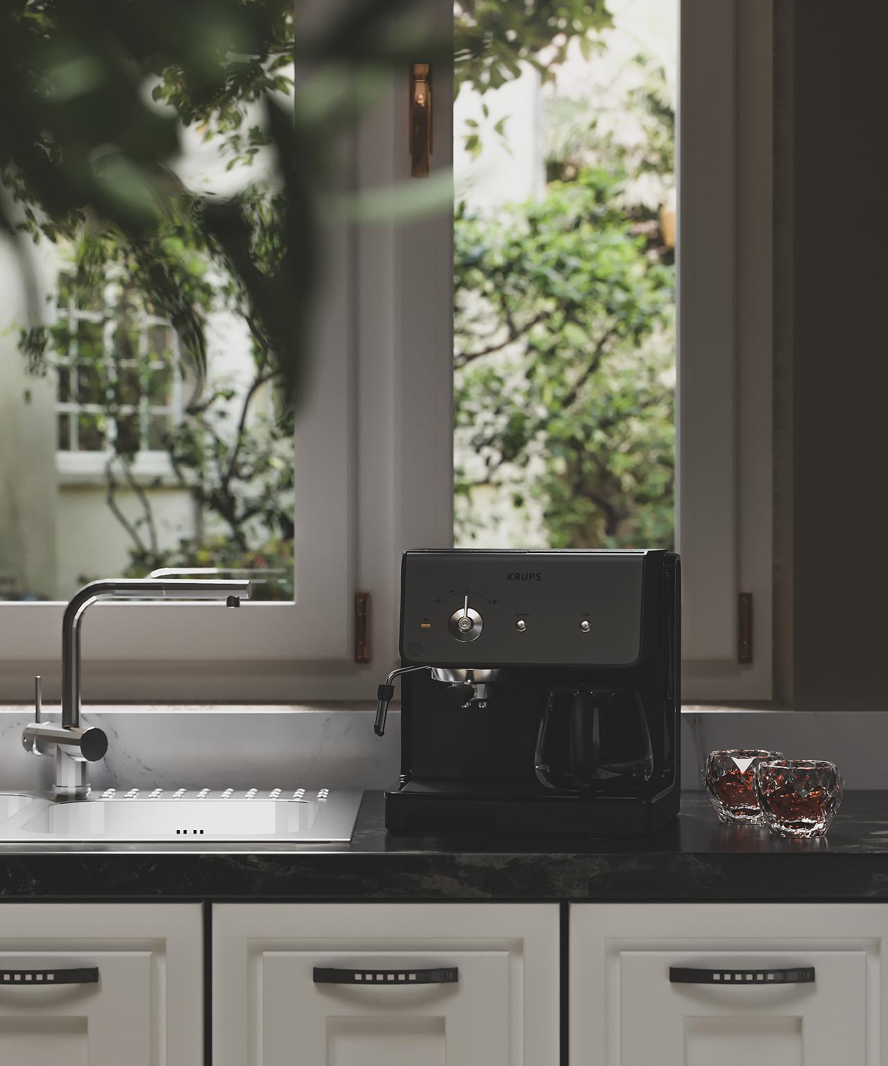 咖啡机/场景建模与渲染