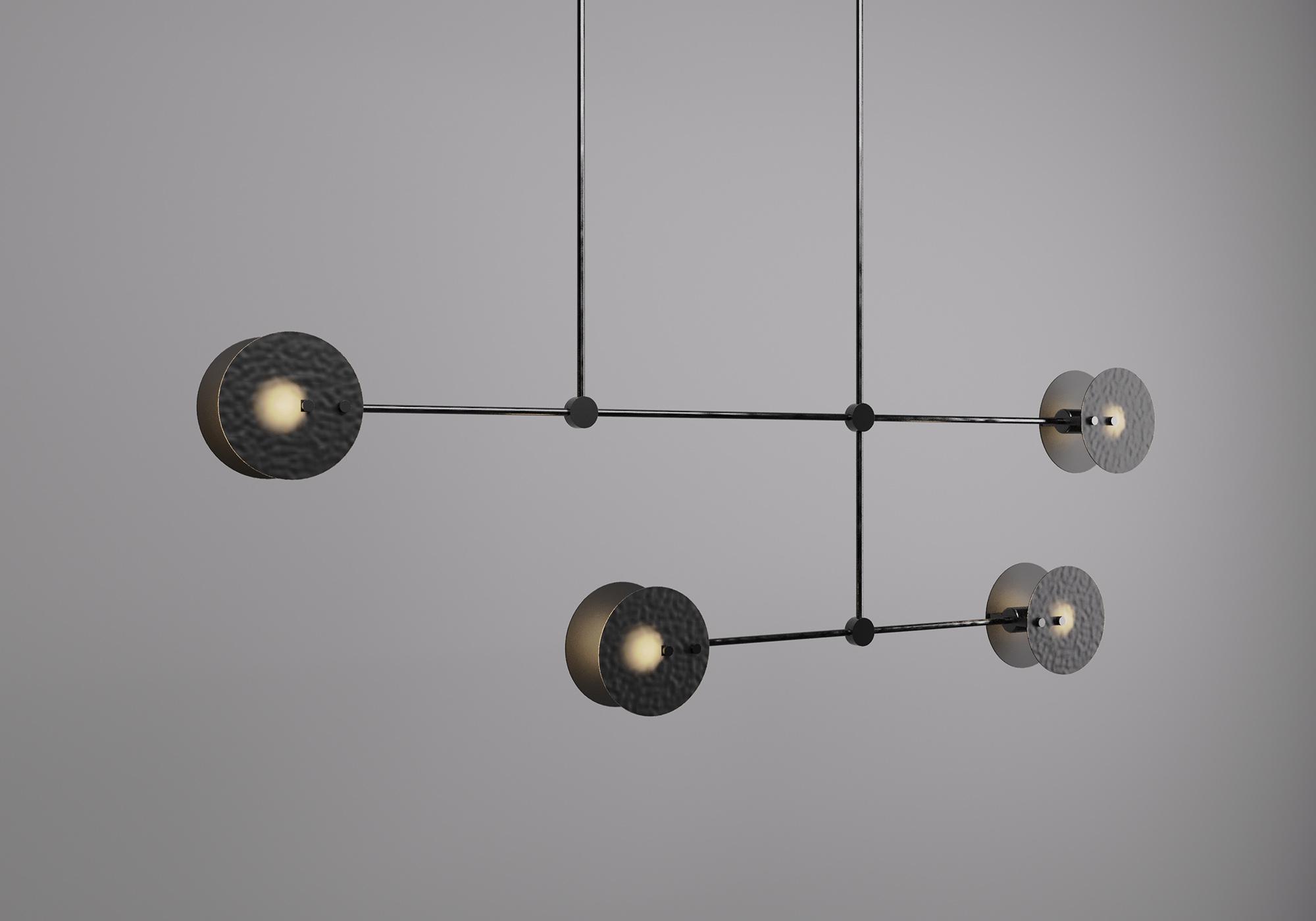 Diptych chandelier - 双联吊灯