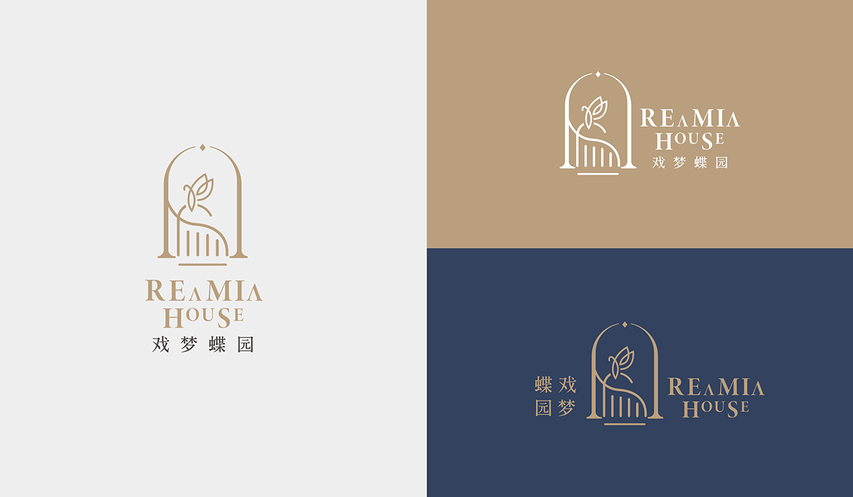 小小山设计作品 | REAMIA 酒店民宿LOGO形象设计