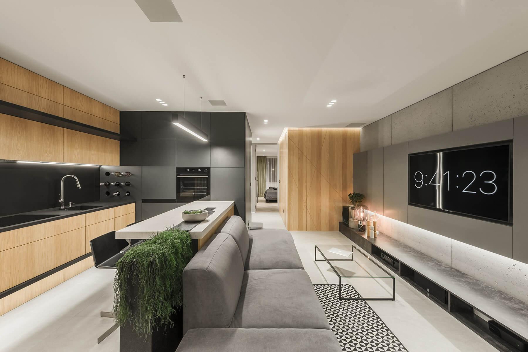 人与自然:58²小户型的自然公寓   NEEN DESIGN