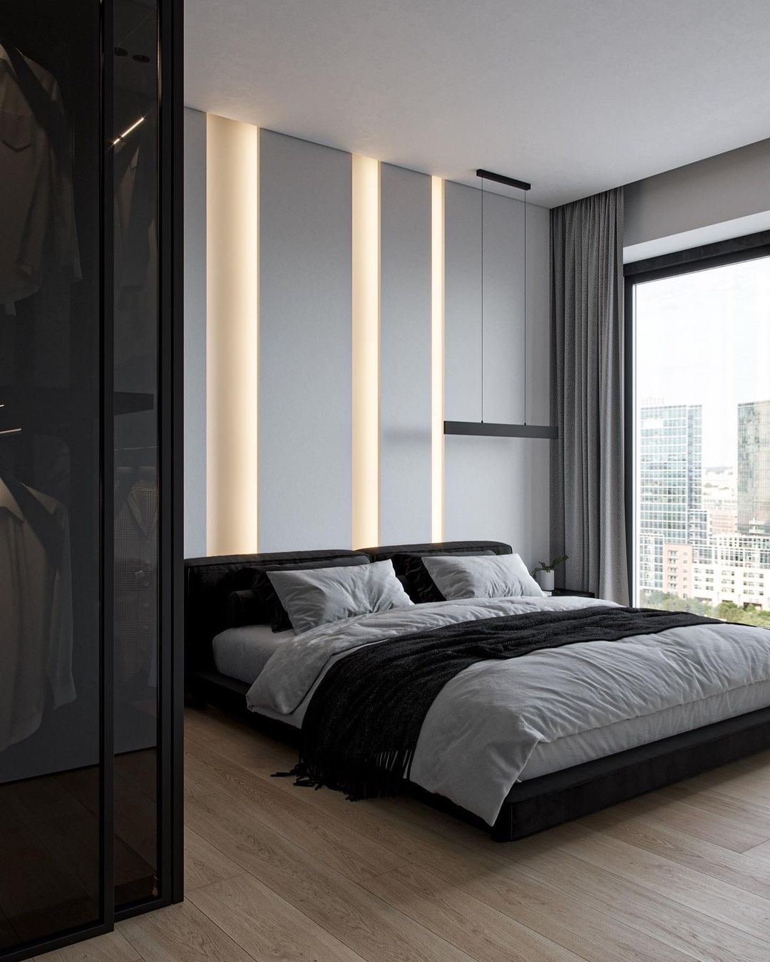 NEEN DESIGN:现代简约城市风格为空间带来生命—卧室