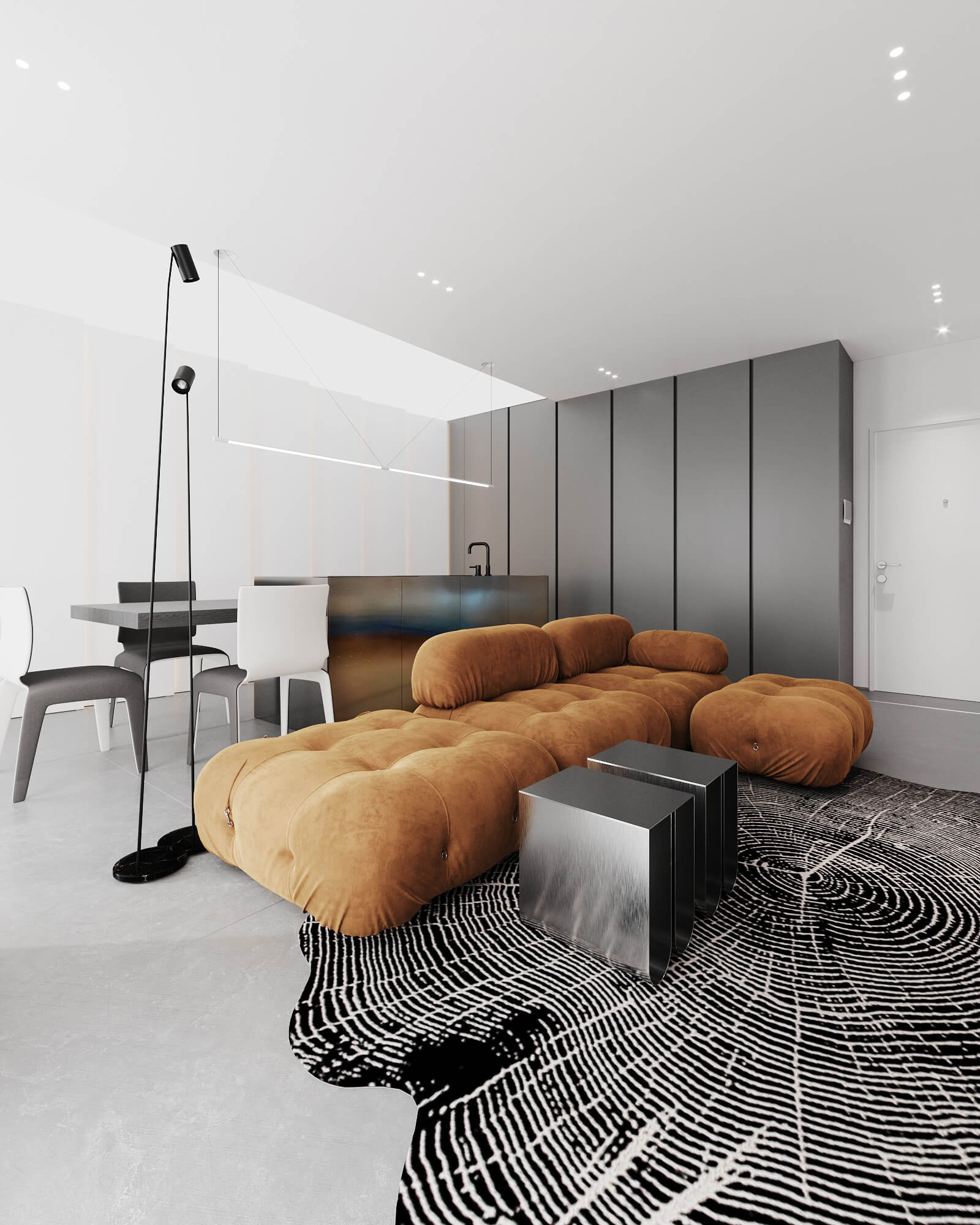 NEEN DESIGN:78² 隐藏在灰白色极简设计的家