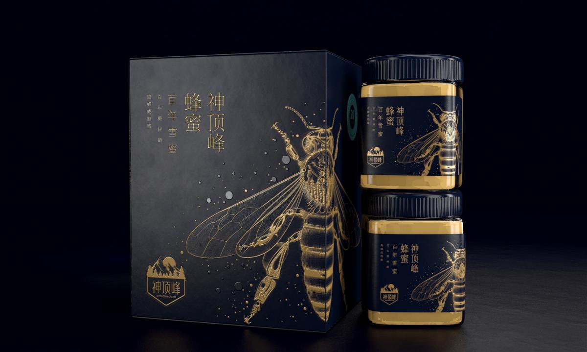 神顶峰蜂蜜—徐桂亮品牌设计