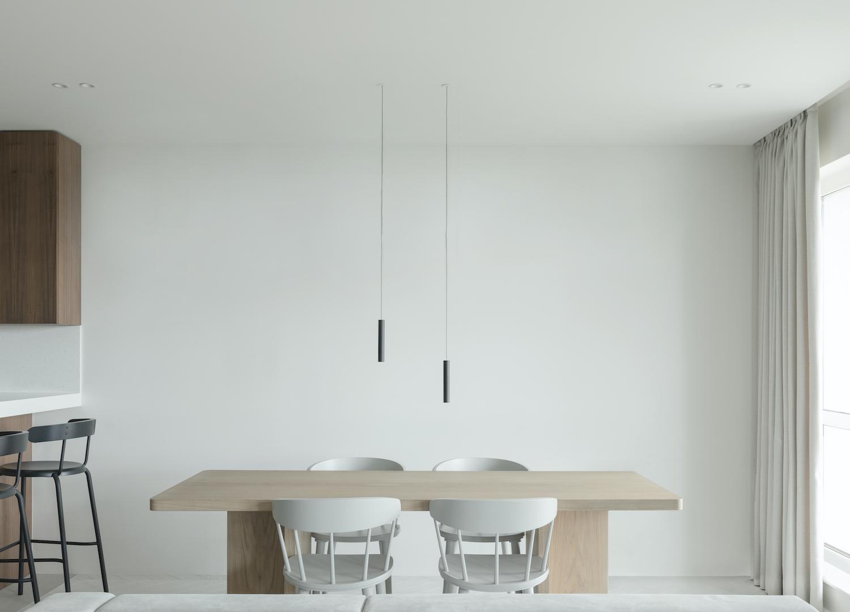 NEEN DESIGN:极简风85²公寓呈现自然性和相互之间