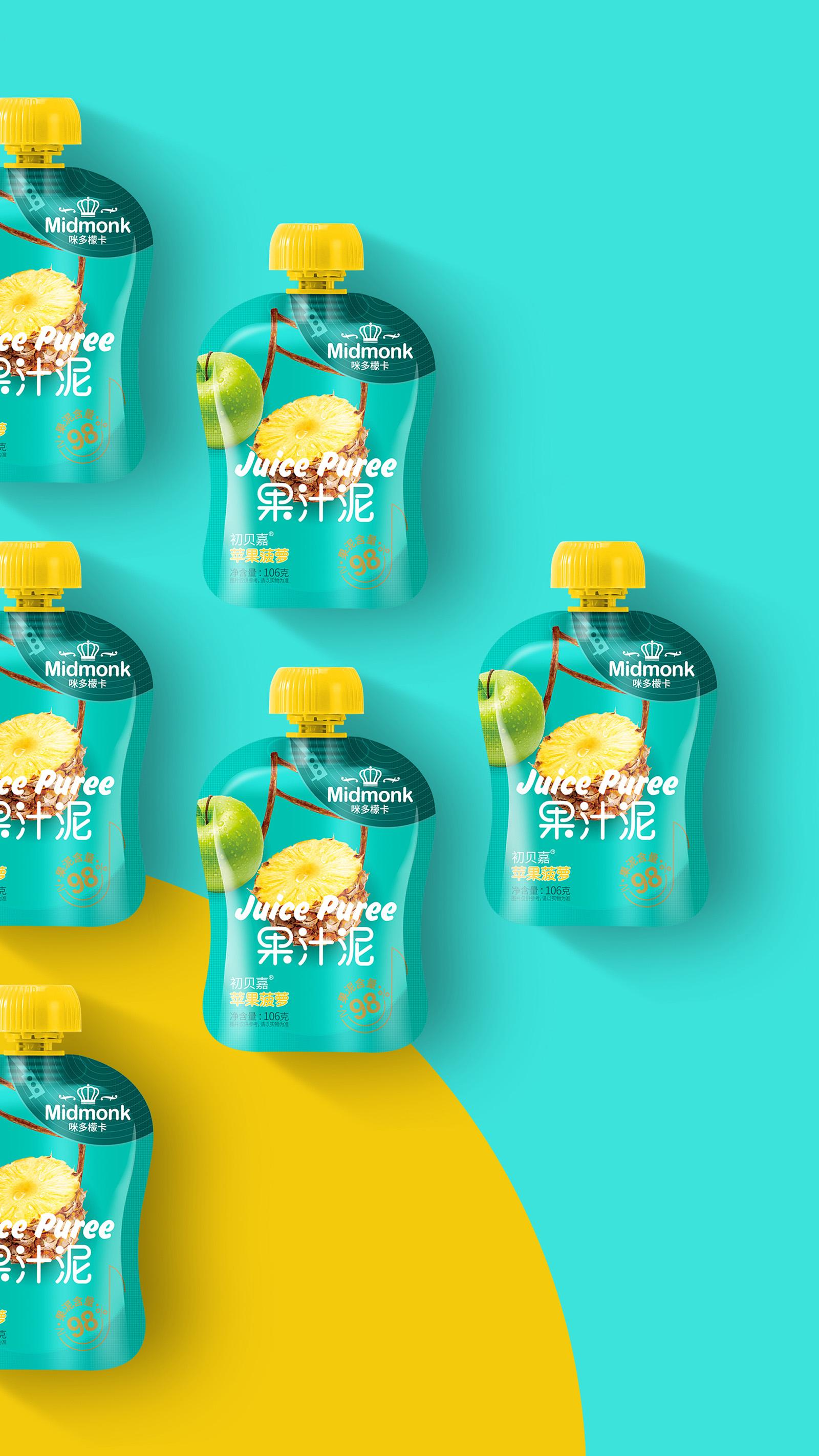咪多檬卡|果汁泥包装设计食欲感满满