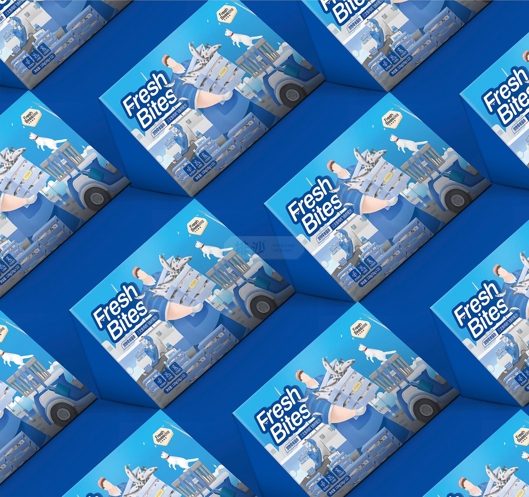 天然新鲜 | 法贝滋宠物零食猫条包装设计
