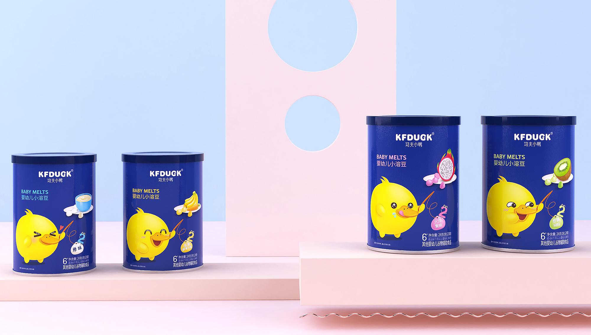 功夫小鸭 婴幼儿辅食包装设计