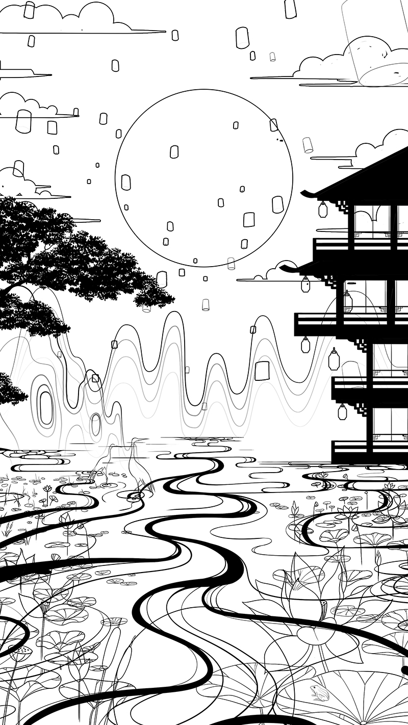 2021中秋节插画